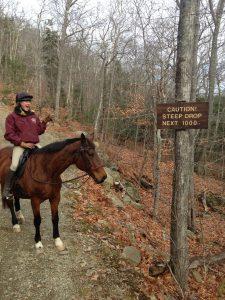 Cassie on the Camden Hills State Park trails.